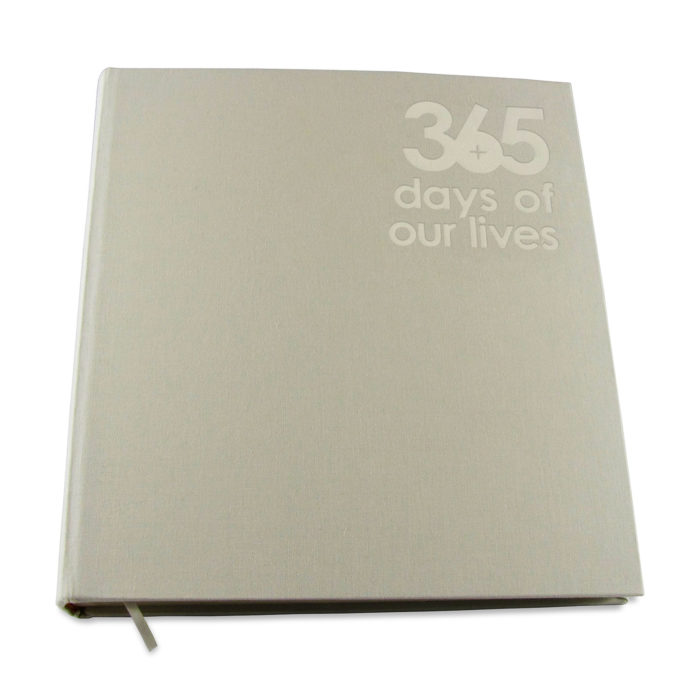 365 days of our lives beige photo album