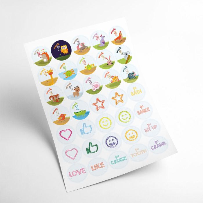 animals stickers my365album 03