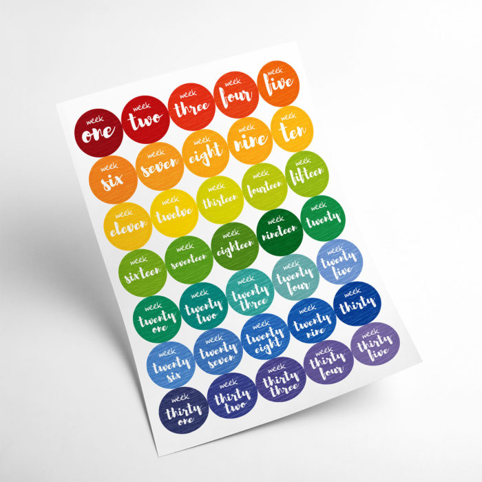 colours stickers my365album 02