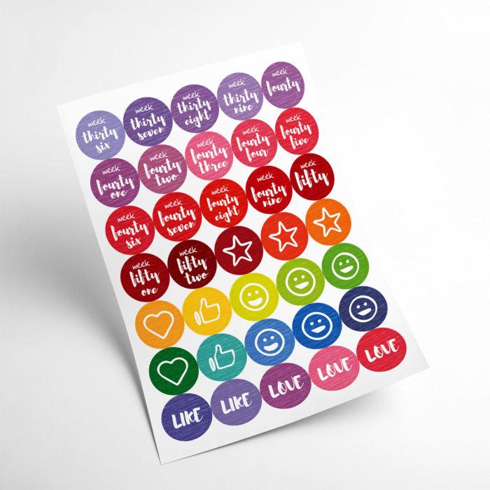 colours stickers my365album 03