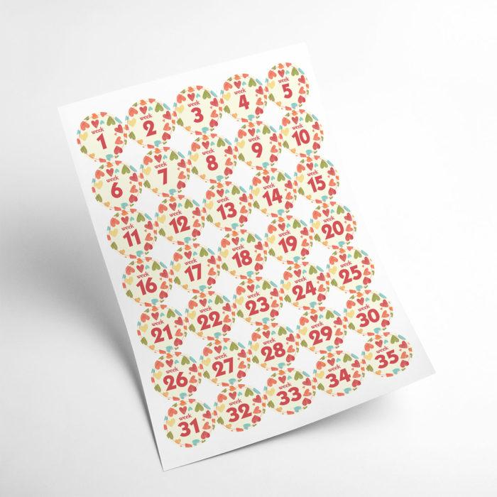 love stickers my365album 02