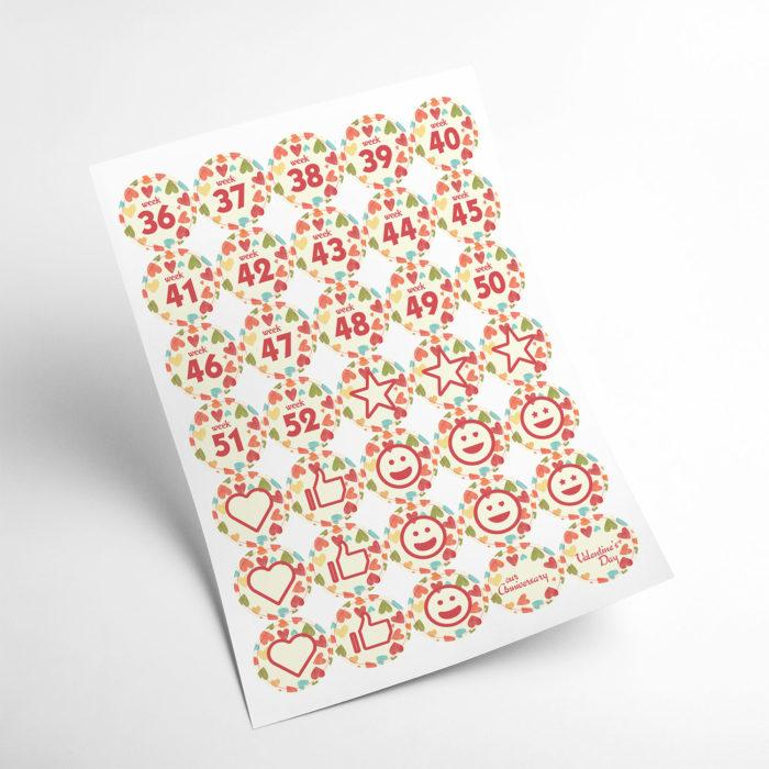 love stickers my365album 03