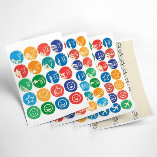 travel stickers my365album