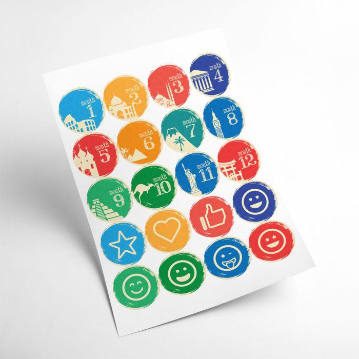 travel stickers my365album 01