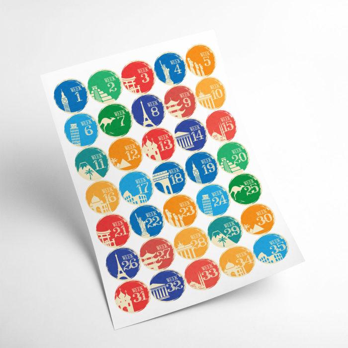 travel stickers my365album 02